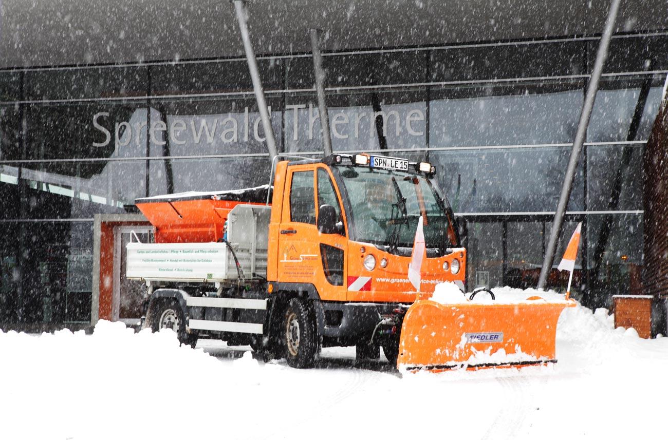 Winterdienst an der Spreewaldtherme